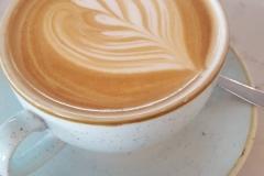 Coffee cup leaf