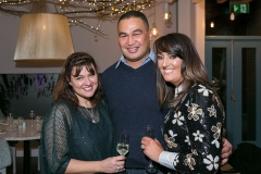 Vicky Casey proprieter of Caprice Cafe with Pat Lam, Connacht Rugby & his wife Steph