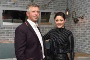 Attending the launch of Caprice Cafe, Church Lane were, Ger O'Connor and Mandy Maher from Catwalk Model Agency. Photo: Boyd Challenger