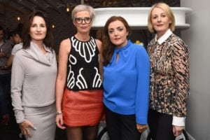 Attending the launch of Caprice Cafe, Church Lane were, Celine Riordan, Majella Curley, Kathleen Hoare and Margaret Gallagher, Les Jumeles. Photo: Boyd Challenger